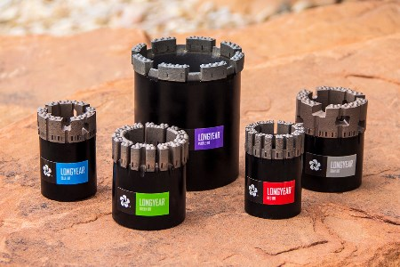 New Longyear™ diamond drilling bits cut faster and last longer