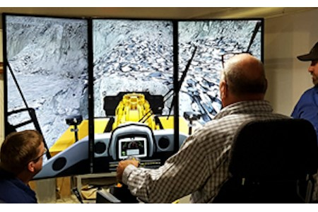 Carmeuse training new operators with CAT simulator