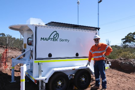 Maptek's Sentry monitoring system will exhibit at Slope Stability