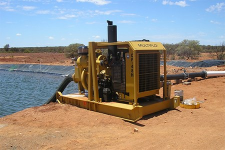 Pump design considerations for mobile mine dewatering applications