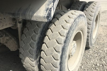 MSO-2 truck tyres used on mining site in Oman