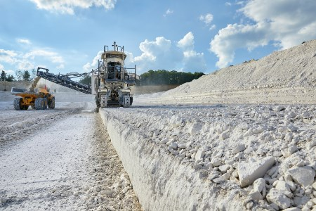 Wirtgen surface miners offer limestone mining without drilling and blasting