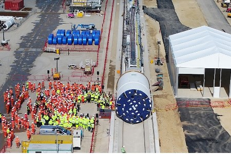 First boring machine launched for Sirius Minerals' tunnel from Teesside to Whitby