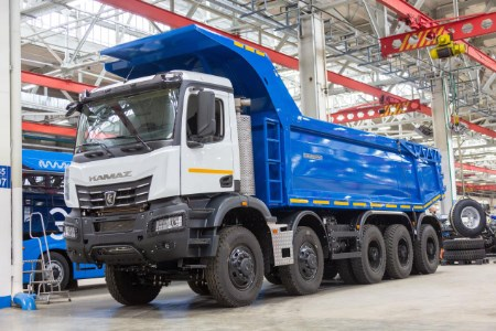 New KamAZ mining dump truck equipped with Allison transmission