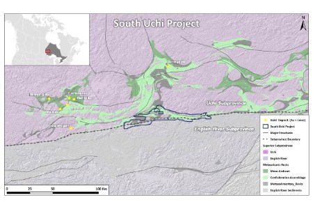 Kenorland Minerals options South Uchi project to Barrick Gold
